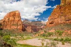 Landschap van zion nationaal park Utah Stock Fotografie