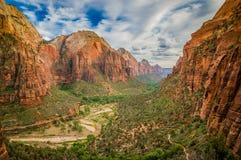 Landschap van zion nationaal park Utah Stock Afbeelding