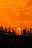 Landschap van zonsondergang Royalty-vrije Stock Afbeelding