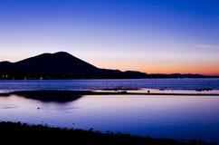 Landschap van zonsondergang Stock Afbeelding
