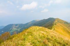 Landschap vanaf de bovenkant van een berg Royalty-vrije Stock Afbeeldingen