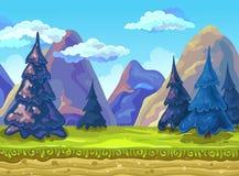 Landschap, Vectorillustratie Royalty-vrije Stock Afbeelding