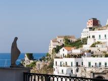 Landschap voor schrijvers uit de klassieke oudheid mediterrane huizen Royalty-vrije Stock Afbeelding