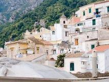 Landschap voor schrijvers uit de klassieke oudheid mediterrane huizen van Alb royalty-vrije stock afbeelding