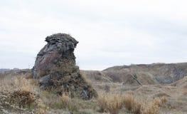Landschap XV van basaltkolommen Stock Foto