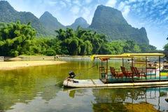 Landschap in Yangshuo Guilin Stock Foto's