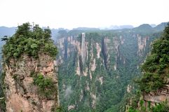 Landschap in Zhangjiajie van China Stock Afbeelding