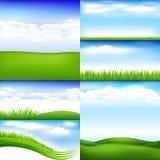 Landschappen royalty-vrije illustratie