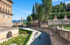 Landschappen, architectuur en kunst van de stad van Florence stock afbeelding