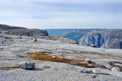 Landschappen in bergen noorwegen royalty-vrije stock foto