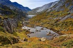 Landschappen in bergen noorwegen royalty-vrije stock afbeeldingen