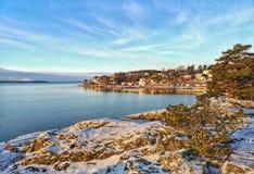 Landschappen in Oostzee, dorp, Kolmarden, Kroken, Zweden royalty-vrije stock foto's