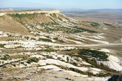 Landschappen op het gebied van de klip ak-Kaya Royalty-vrije Stock Foto