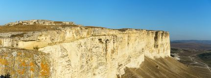 Landschappen op het gebied van de klip ak-Kaya Stock Foto