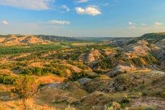 Landschappen Theodore Roosevelt National Park stock foto's