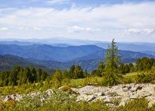 Landschappen van Bergen Altai Royalty-vrije Stock Foto's