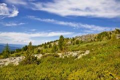 Landschappen van Bergen Altai Stock Afbeeldingen
