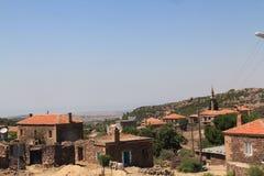 Landschappen van de Egeïsche dorpen van Turkije Stock Foto