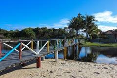 Landschappen van de kuststad van Prado, Bahia, Brazilië royalty-vrije stock fotografie