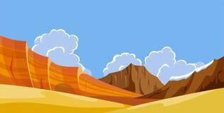 Landschappen van de woestijn de wilde aard Stock Foto's