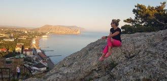 Landschappen van het Krimschiereiland, Royalty-vrije Stock Foto's