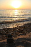 Landschappen van het strand van Turkije, de zomer stock foto