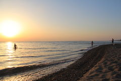 Landschappen van het strand van Turkije, de zomer Royalty-vrije Stock Afbeeldingen