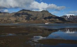 Landschappen van Svalbard/Spitsbergen stock afbeeldingen