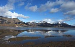 Landschappen van Svalbard/Spitsbergen royalty-vrije stock afbeelding
