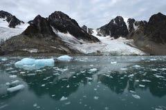 Landschappen van Svalbard/Spitsbergen stock afbeelding