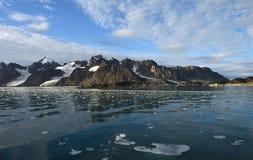 Landschappen van Svalbard/Spitsbergen stock fotografie