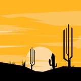 Landschaps abstracte illustratie Stock Afbeeldingen