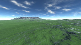 Landschaps hoge groene heuvel Royalty-vrije Stock Fotografie