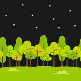 Landschaps Naadloze Achtergrond Nachtachtergrond stock illustratie