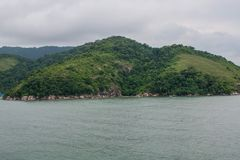 landschaps overzees strand royalty-vrije stock afbeeldingen