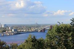 Landschaps stedelijke rivier Royalty-vrije Stock Foto