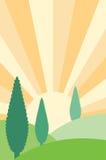 Landschaps vectorillustratie Stock Illustratie