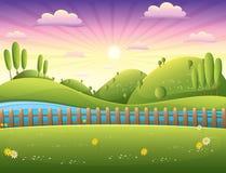 Landschaps vectorillustratie Royalty-vrije Stock Fotografie