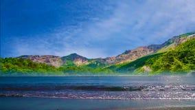 002 landschapsaard van mooie strand en overzees stock footage