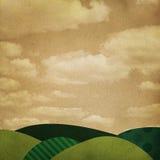 Landschapsachtergrond Royalty-vrije Stock Afbeeldingen