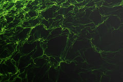 Landschapsachtergrond Cyberspace landschapsnet 3d technologie Abstract groen landschap op zwarte achtergrond met licht Stock Afbeeldingen