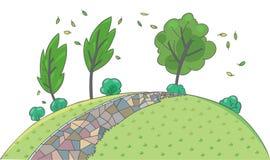 Landschapsachtergrond Kinderen vectorillustratie royalty-vrije illustratie