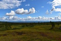 Landschapsbeeld in de provincie Noorwegen van Løten Hedmark Stock Foto