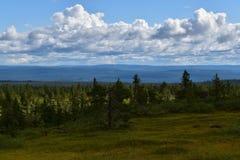 Landschapsbeeld in de provincie Noorwegen van Løten Hedmark Stock Foto's