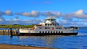 Landschapscal de veerboot largs ayrshire Schotland van MAC Stock Foto's