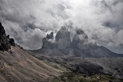Landschapsdolomiet - Tre Cime di Lavaredo Royalty-vrije Stock Afbeelding
