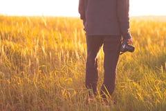 Landschapsfotograaf Stock Afbeelding