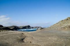 Landschapsfotografie van één van de bekendste plaatsen in Menorca op de kust met een vuurtoren royalty-vrije stock foto