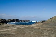Landschapsfotografie van één van de bekendste plaatsen in Menorca op de kust met een vuurtoren royalty-vrije stock afbeelding