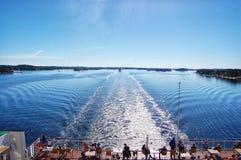 landschapsgolven van het schip Royalty-vrije Stock Fotografie